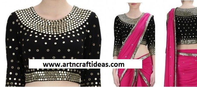Mirror Work Embroidery Designs For Blouse And Kurtis Art Craft Ideas