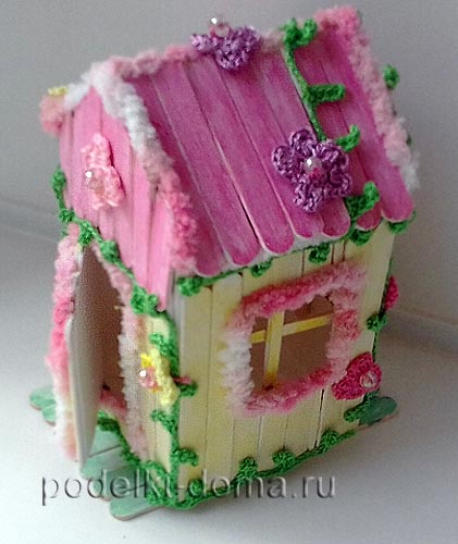 How to make a ice cream stick house for baby doll art craft ideas we begin to glue them to our house so we do our creation is simply unique see how the house was transformed ccuart Choice Image