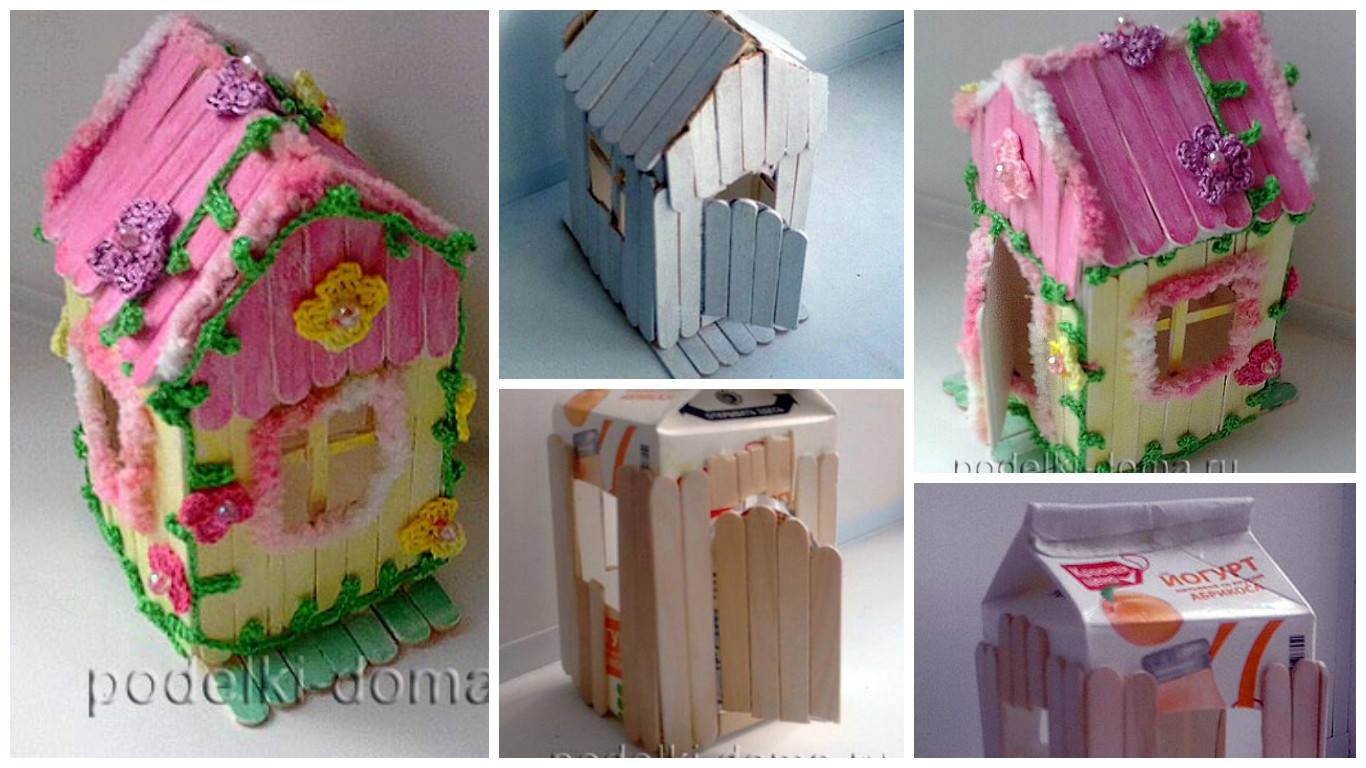 How to make a ice cream stick house for baby doll art craft ideas posted on july 1 2017 july 1 2017 by artncraft ccuart Image collections