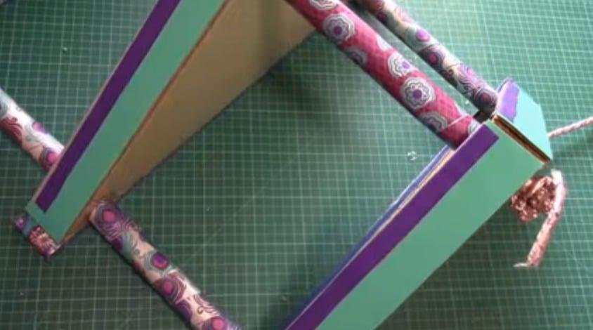 How To Make Cardboard Corner Shelf Rack Art Craft Ideas