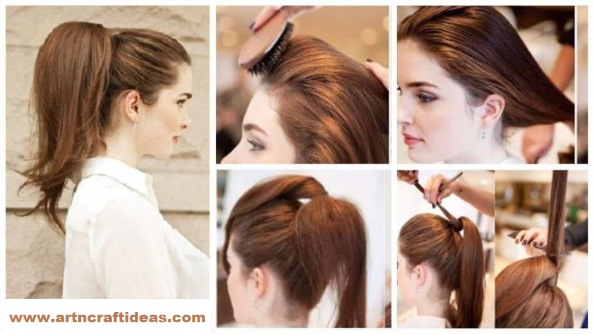 How To Elegant High Full Ponytail Hairstyle Step By Step Art