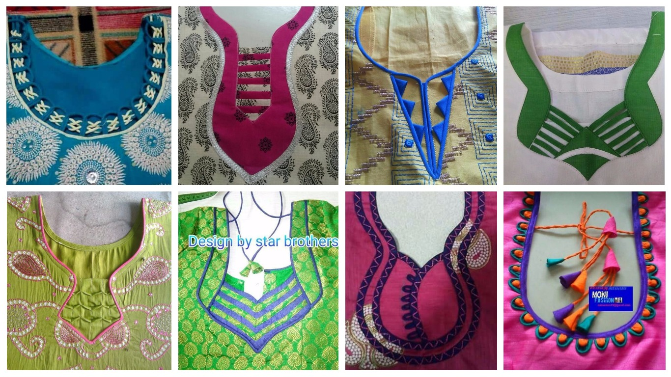 Different Types Of Neck Patterns To Try In Your Kurtis Art Craft