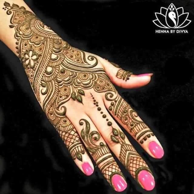 Simple Arabic Henna Mehndi Designs For Hands Art Craft Ideas