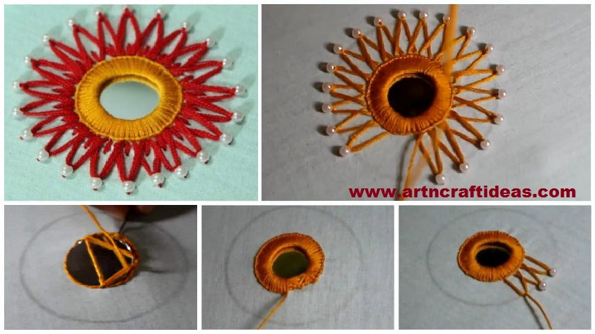 How To Do Hand Embroidery Mirror Work Design