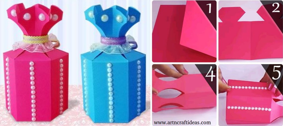Diy Paper Craft Paper Gift Bagsgoody Bags Art Craft Ideas