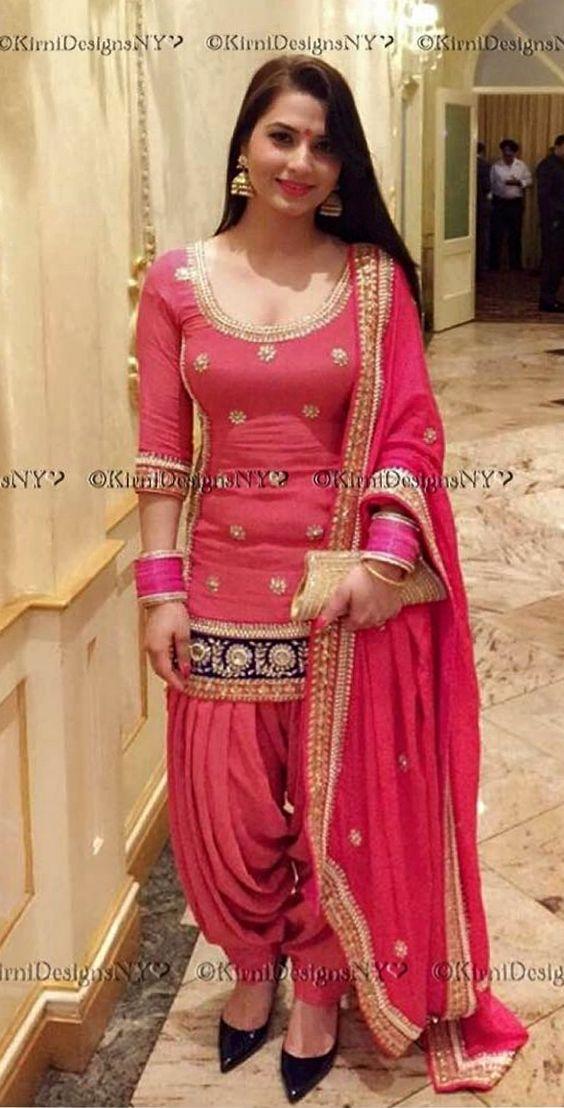 Different Types Of Best Designer Punjabi Salwar Suits For