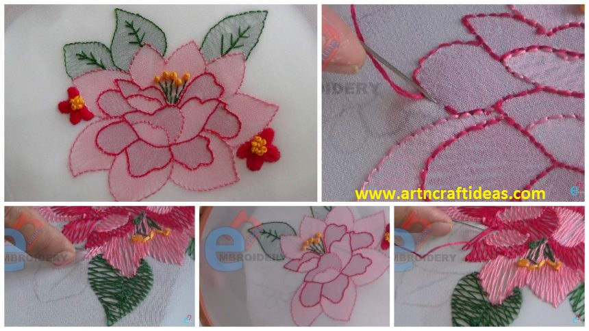 How to do shadow work hand embroidery art craft ideas posted on july 11 2017 by artncraft dt1010fo
