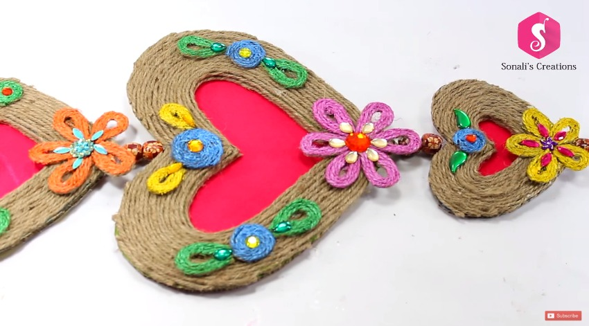 How to Make Wall Hanging from Jute - Art & Craft Ideas