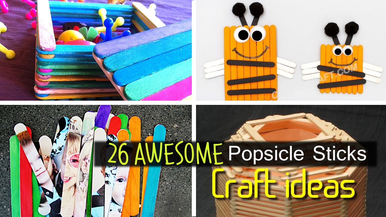 26 Lovely And Fun Popsicle Stick Crafts For Kids