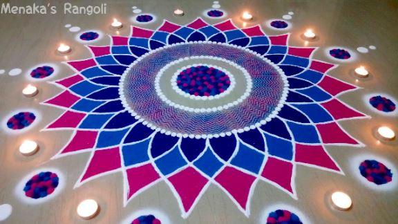 Beautiful Rangoli Design For Diwali Step By Step Art