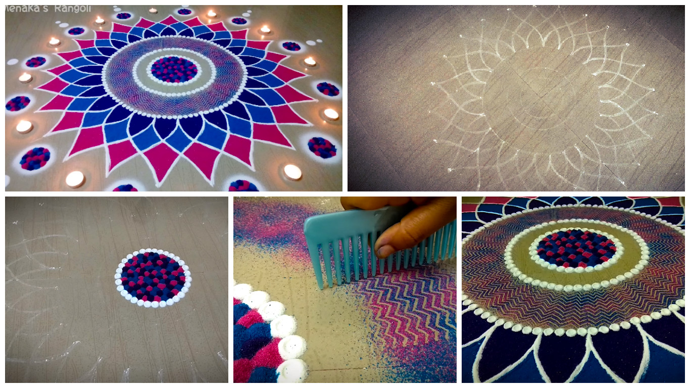 Beautiful Rangoli Design for Diwali - Step By Step - Art ...