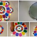 Colourful and Innovative Diwali Special Rangoli Design Step By Step