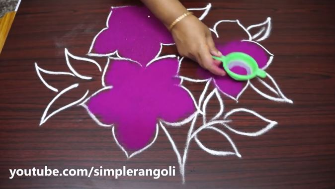 how to draw rangoli designs step by step