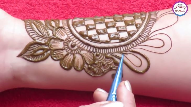 Mehndi Designs And S : Beautiful 3d arabic henna designs with the help of bangle step by