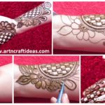 Beautiful 3D Arabic Henna Designs With The Help Of Bangle – Step By Step (Tutorial)