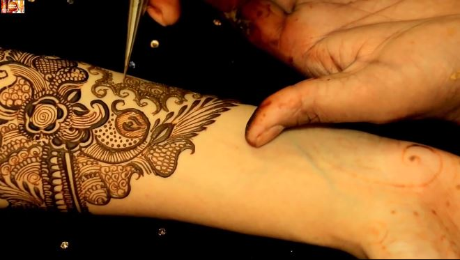 Learn To Draw Basic Bridal Mehendi Designs On Hands - Step By Step ...
