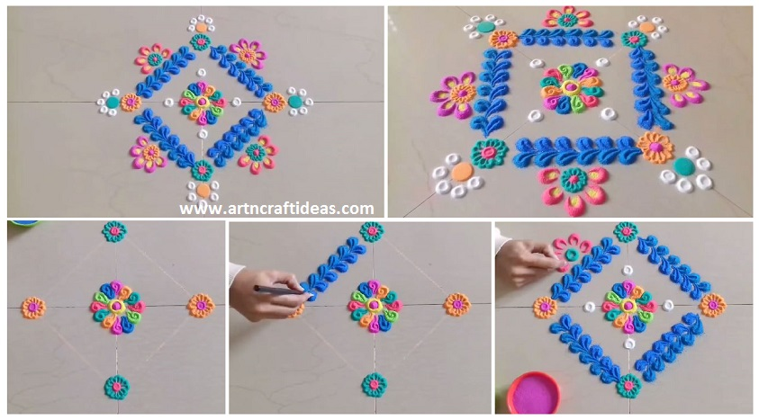 Simple And Easy Innovative Rangoli Designs Step By Step Art